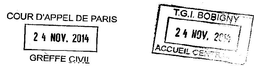 Tampon réréré Bobigny Appel