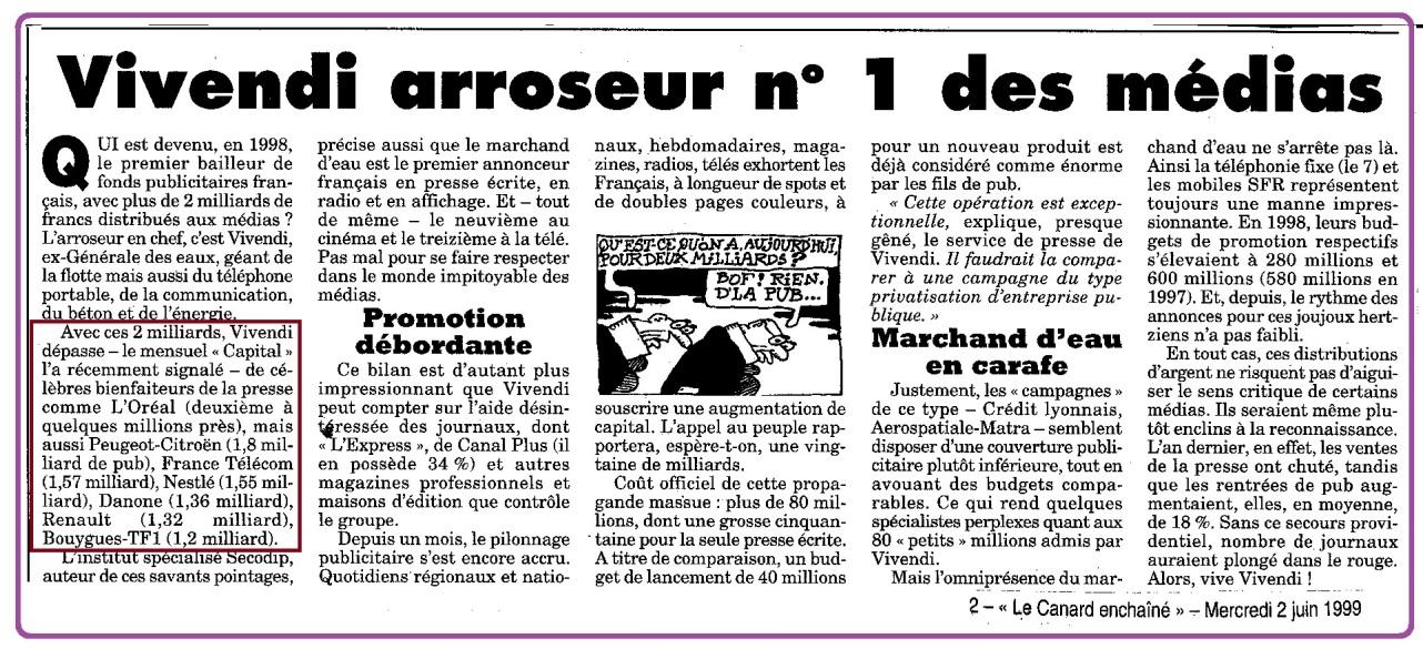 Vivendi arroseur n° 1 Medias