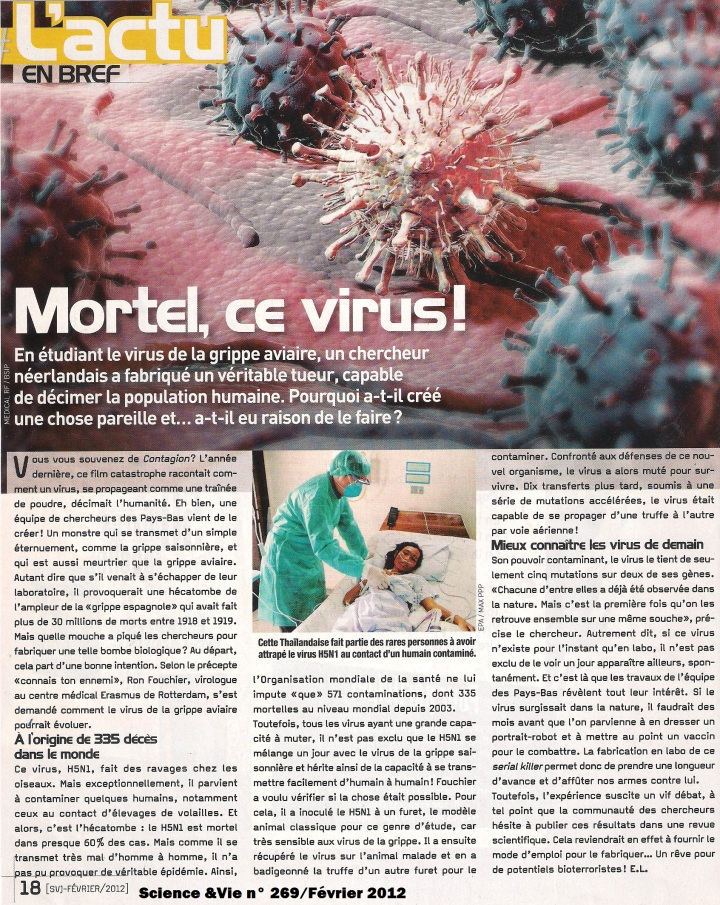 Virus grippe aviaire