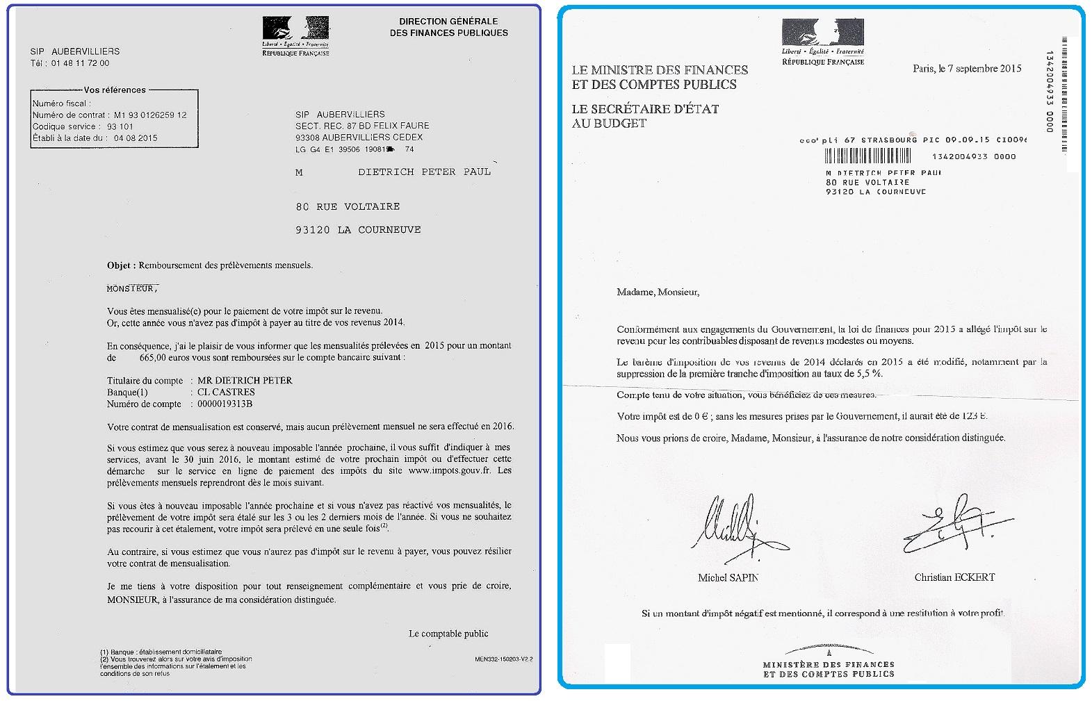 Impot exonération 2014-15