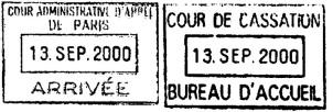 Tampon Cour Adm d'appel 13 sept 2000