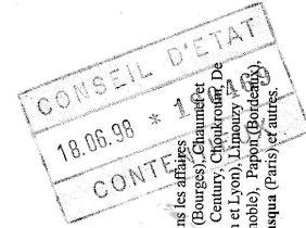 Courroy Lyon tampon Conseil d'Etat.