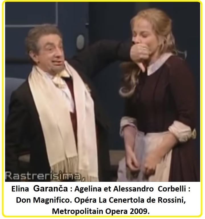 Elina Garanča Agelina et Alessandro Corbelli Don Magnifico Opéra La Cenertola de Rossini